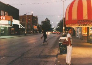 Green Street in the 1980s. The theater on the left is gone. Sadly, so is our friend.